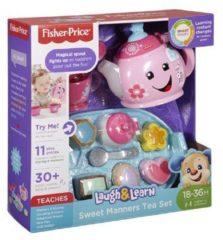 Blauwe Mattel Fisher-Price Leerplezier Goede Manieren Theeservies - Speelgoedservies