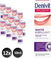 Denivit Ultimate White & Brilliant Tandpasta - 12 stuks - Voordeelverpakking
