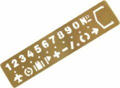 Gouden Moodadventures | Knutselen | Lineaal Messing Cijfers En Symbolen | 13 x 3 cm