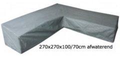Zwarte Trendyard Eurotrail SFS Hoes Voor L-vormige loungeset 270 x 270 x 100/70 CM