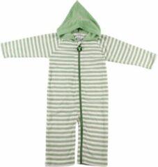 Ducksday onesie unisex - groen stripe - 80/86