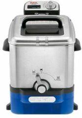 Blauwe Tefal Oleoclean Pro Inox & Design FR8040 - Frituurpan