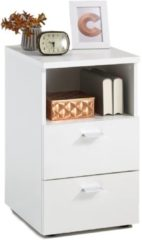 FD Furniture Nachtkastje Colima Small 62 cm hoog - Wit