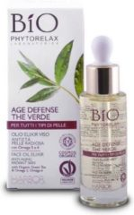 Phytorelax Bio groen Tea Age Defense Face Elixir Oil