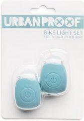 URBAN PROOF UrbanProof fietslampjes set siliconen IJsblauw