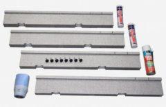 Villeroy & Boch Villeroy en Boch Futurion Flat installatieset v kleine maten douchebakken hoogte verstelbaar van 135 155mm v douchebakken van 90x80cm tot 100x100cm u91411000
