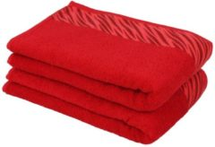 Duschtuch rot, 70 x 140 cm, 2er-Set