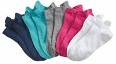 Sneakersokken Blue Moon 2x turquoise, 2x grijs, 2x wit, 2x blauw, 2x pink