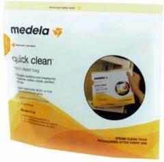 Transparante Medela Quick Clean Magnetron sterilisatiezakjes (5 stuks)