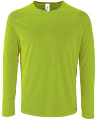 Groene T-Shirt Lange Mouw Sols SPORT LSL MEN