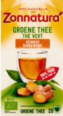 Zonnatura Groene Thee Bio Gember 20 stuks