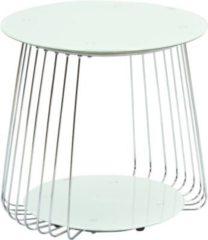 Inter Link Couchtisch Rivoli 50 cm Glas weiß