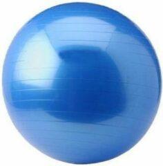 Blauwe Gym ball Focus Fitness - 75 cm