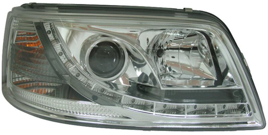 Afbeelding van AutoStyle Set Koplampen incl. DRL passend voor Volkswagen T5 2003-2010 - Chroom - incl. Motor