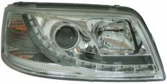 AutoStyle Set Koplampen incl. DRL passend voor Volkswagen T5 2003-2010 - Chroom - incl. Motor