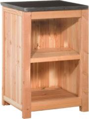 Bruine Woodvision - Buitenkeuken element enkel 90 - Douglas - 90x61.5x56 cm