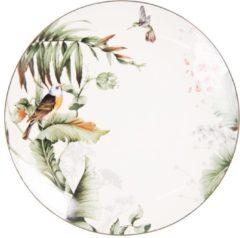 Groot bord | Ø 26*2 cm | Meerkleurig | Porselein | rond | Clayre & Eef | TRBFP