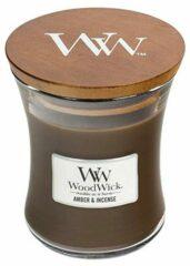 Woodwick Hourglass Medium Geurkaars - Amber & Incense