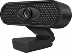Spire Webcam 1080P Full HD - Met Microfoon - Zwart - Ruisonderdrukking - USB aansluiting - Plug & Play - Auto Focus Lens - Verstelbaar - Voor Windows, Mac en Android - 2.1 Megapixel