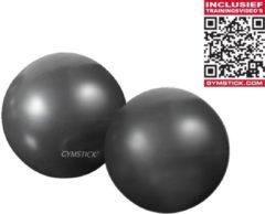 Grijze Gymstick Yoga Ballen - 2 x 1 kg - Met online trainingsvideo