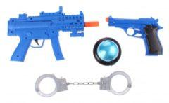 Blauwe Toi-Toys Toi Toys politie speelset met licht en geluid 4 delig blauw