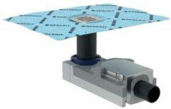 Geberit vloerput met 1 aansluiting, RVS (RVS), uitwendige buisdiameter 50mm, ho 90mm