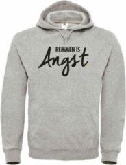 Zwarte Merkloos / Sans marque Wintersport hoodie grijs Remmen is Angst - soBAD.