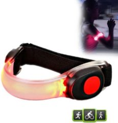 Rode Pure2Improve - Siliconen - LED armband - voor - hardlopen - fietsen - hardloop armband