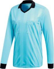 Lichtblauwe Adidas Performance Scheidsrechtertricot REFEREE 18 CV6321
