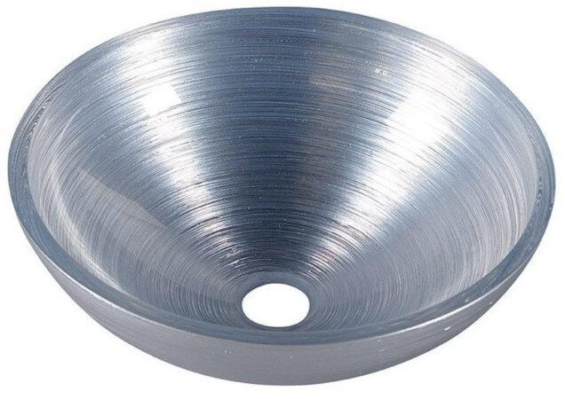 Afbeelding van Sapho Murano glazen waskom 40cm zilver