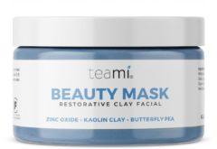 Blauwe Teami Blends TEAMI BEAUTY MASK - herstellende gezichtsmasker, rijk aan antioxidanten, kaolienklei,