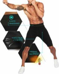 LaFaja For Men - Sport Compressie Broek - Premium Kwaliteit Neopreen - Anti Slip - Zwart - Maat M