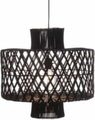 Zwarte LT-Luce Hanglamp Candy Black Rotan 50cm