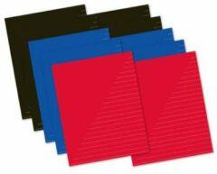 Schrift A5 Kangaro lijn - pak a 10 stuks assorti kleuren