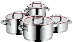 WMF Function 4 Pot-Set. 4pc. with glasslid. for induction