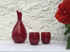 Skloglass Kristallen Druppel glas / Rood