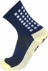 Marineblauwe Zonder merk Gripsokken voetbal navy blue - donkerblauw - sportsokken - grip - anti blaren - compressie - prestatieverhogend - tennis - hardlopen - handbal - sporten - fitness