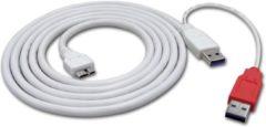 Zwarte ROLINE USB 3.0 Y-Kabel, 2x Type A/M - Micro B/M, 1,8m 1,8m USB-kabel