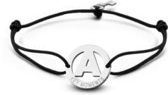Zilveren Key Moments 8KM-A00001 - Armband met stalen letter A en sleutel - one-size - zilverkleurig