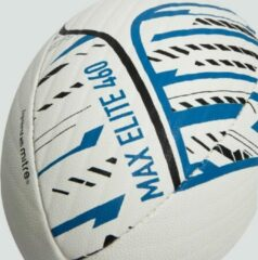 Blauwe Canterbury MAX 460 ELITE RUGBY BALL WHITE BLACK BLUE 5