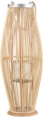 Beliani TAHITI - Lantaarn - Licht houtkleur - Bamboohout