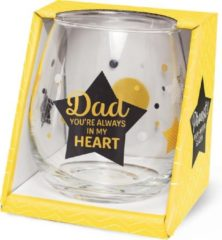 Miko Wijn -Waterglas Dad in my heart Proost!