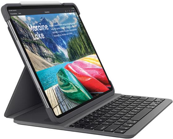 Afbeelding van Logitech Slim Folio Pro voor de iPad Pro 12.9-inch (3rd and 4th gen) - UK - INTNL - Tablethoes - Grijs/Graphite
