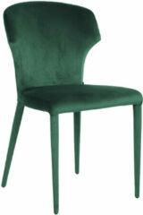 Richmond Interiors Richmond Eetkamerstoel 'Piper' Velvet kleur Groen