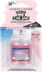 Roze Yankee Candle - Pink Sands Ultimate Car Jar ( růžové písky ) - Luxusní visačka do auta