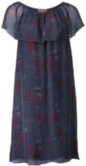 Kleid im Carmenstil Cartoon Dark Blue/Petrol - Blau