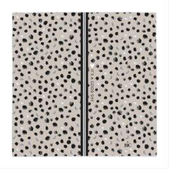 Zwarte Bastion Collections - Servet L - Titane it's a good day - dots