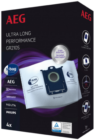 Afbeelding van AEG Stofzuigerzak s-bag ultra long performance airmax, oxygen+, jetmaxx stofzak