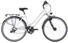 KS Cycling Trekkingbike Damen, 28 Zoll, weiß, 24 Gang-Shimano Altus, »Madeira«