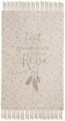 Roze Atmosphera Créateur d'intérieur® Natuurlijk omzoomd tapijt 60x90, wit